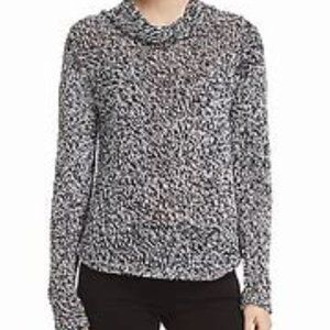 Eileen Fisher Marled neck cowl neck sweater